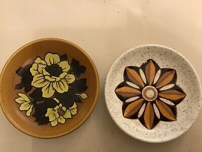 Pair of Vintage Retro Kitsch Palissy Royal Worcester Pin Dishes 1960s 1970s