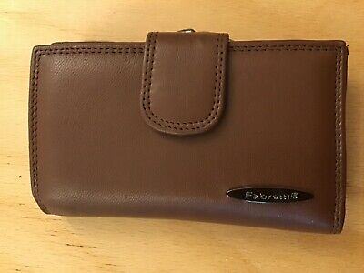 Real Leather Fabretti Wallet With Zip Compartment And Card Holder 90268