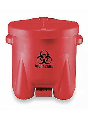 EAGLE Biohazard Step On Waste Container, 945BIO