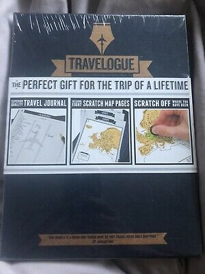 Travelogue Travel Journal By Luckies of London, brand New In Plastic scratch map