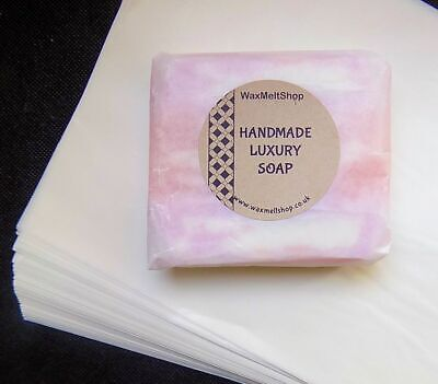 Waxed Paper Sheets For Soap & Candles Wax Wrapping Food Safe (19 cm x 25 cm)