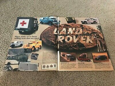 Vintage 1996 HISTORY OF LAND ROVER & DEFENDER 90 DISCOVERY RANGE ROVER Print Ad