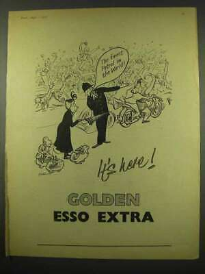 1956 Golden Esso Extra Petrol Ad - The Finest