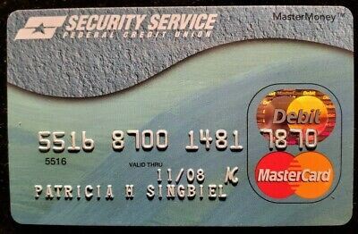 Security Service Federal Credit Card Mastercard exp 2008♡free ship♡cc1375♡