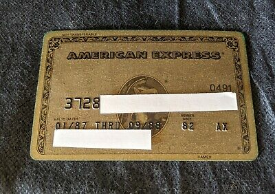 NICE Vintage Rare American Express GOLD Charge credit card.  Member since 1982