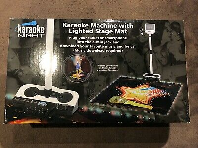 Kids Karaoke System Microphone with Stand and Lighted Dance Mat, Karaoke Machine
