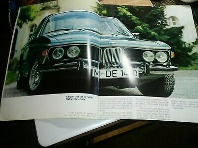 1973 E9 BMW 3.0CS Coupe Color Brochure  very Rare 20 Pages 12.5x9.5 sweeet