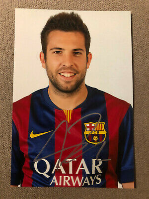VERY RARE Jordi Alba autograph Signed photo Barcelona, Valencia, Spain