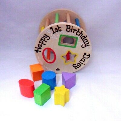 Personalised Wooden Shape Sorter Creative Toys Activities CE Certificate