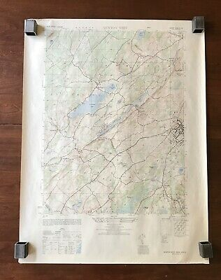 Topographical Map of Newton West N.J.1949 USC&GS Army Corps Engineers 22x29