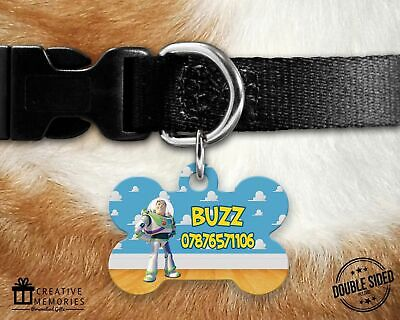Dog Tag - Pet ID Tag - ID Tag - Personalised - Toy Story - Buzz Style