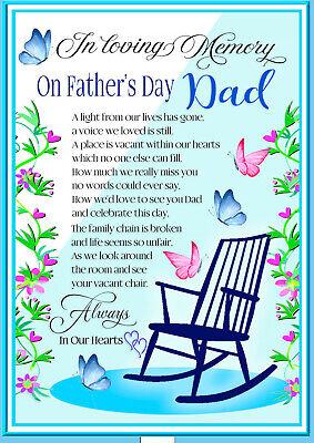 Father's Day Dad  Memorial Remembrance Bereavement Graveside Keepsake & Holder 6