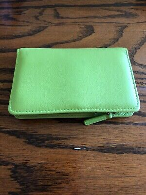 New Wilson's Leather Ladies Wallet Green Threefold With Tag