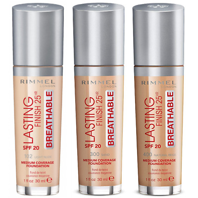 Rimmel London Lasting Finish BREATHABLE Foundation- Choose your shade NEW