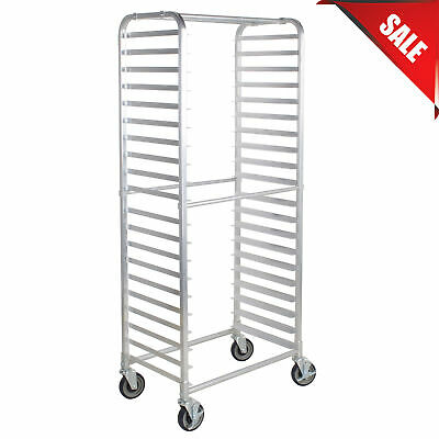 20 Pan Aluminum Restaurant Bakery Side Load Bun / Sheet Pan Speed Rack