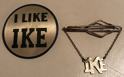 Vintage I Like Ike Flasher Dwight Eisenhower Political Button & Lapel Pin/Charm