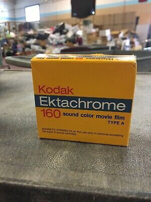 Expired Kodak Ektachrome 160 Sound Color Movie Film Type A Unopened