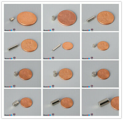 N52 Multiple Szie Small Cylinder Rare Earth Neodymium Magnets
