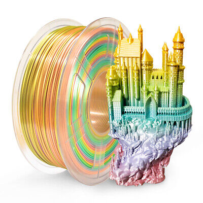 SUNLU 3D PLA SILK Rainbow Printer Filament 1.75mm 1kg New Arrival Consumables