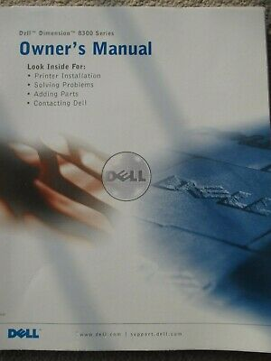 Dell Dimension 8300 Owner's manual -  paperback