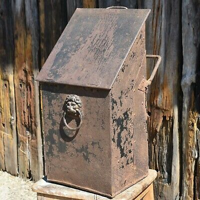 Antique 19th Century Georgian Victorian Iron Letter Post Box Country House