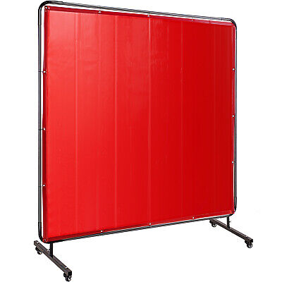 6/'x 8/' Low-Visibility LAVAshield® Welding Screen Curtain 14 mil  Screen Only