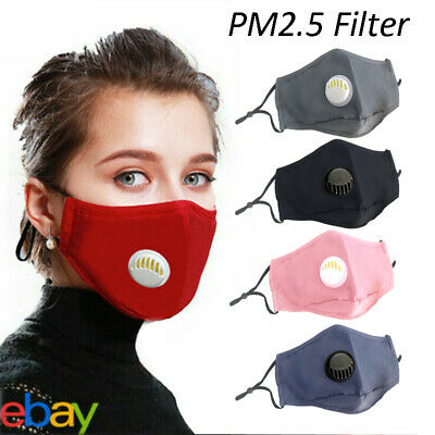 Masks Washable Haze-Face Mouth Cover Protection Respirator 5Layer PM2.5 Filter