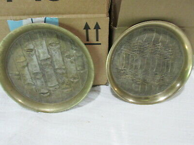 2 Very old Korean Solid Brass Plate's Plate Rare Small Size