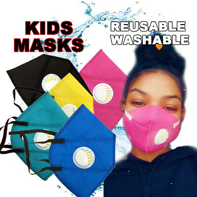 Kids Reusable Washable Activated Carbon Filter With Respirator Filters Face Mask