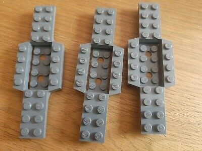 Lego 11399-Plate 4x4 with two horizontal clips without gaps  x1