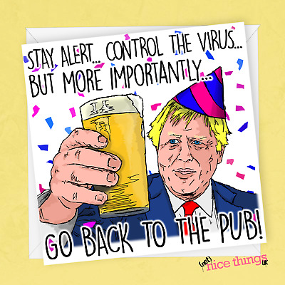 Boris Johnson Funny Birthday Card Virus Card Funny Birthday Cards For Him Her 3 75 Picclick Uk
