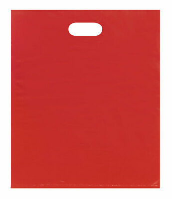 Large Low Density Red Merchandise Bags - Case of 500