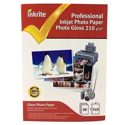 Inkrite PhotoPlus Professional Paper Photo Gloss 210gsm 7x5 (50 sheets)