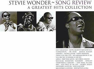 Stevie Wonder Song Review A Greatest Hits Collection,SEALED CD TRACKS ETC PIC 2