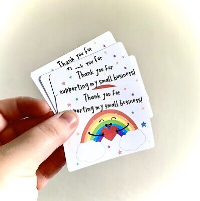 Cute Rainbow Thank You Cards
