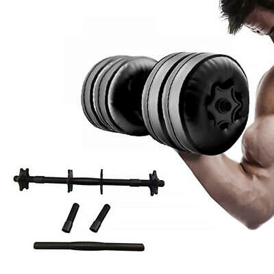 2 Adjustable 20kg Dumbbell Water-filled Muscle Fitness Weights Train Lifting GYM
