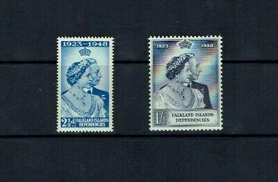 Falkland Islands Dep.: 1948 Royal Silver Wedding, Mint never hinged.