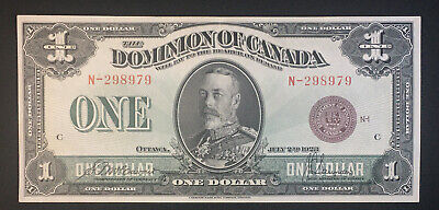1923 Dominion of Canada $1 XF-AU  DC-25e McCavour-Saunders s/n N-298979 Mr. C
