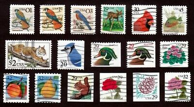 #2476-92 Flora Fauna Series 1¢-$2 Used Xlite Cancels Includes 45¢ Sunfish Cv$5