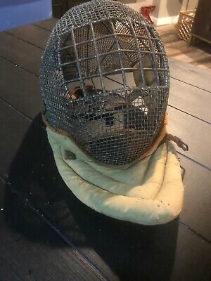 Hamblin And Russell Antique Caged And Padded Fencing Mask, Made In Mass., USA