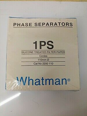 Whatman Phase Seperators, 1PS Silicone Treated Filter Paper, 110mm x 100 Circles