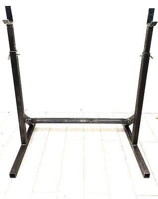 Olympic Squat Rack Power Stands Barbell Adjustable Bench Press Weight UK STOCK