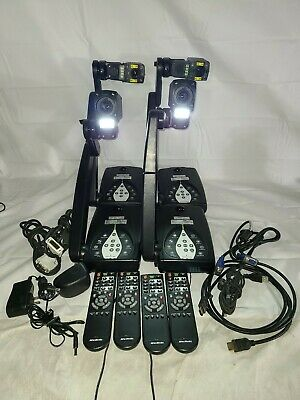 Lot of 4 AVerMedia AVerVision Interactive Visualizers w/ Accessories