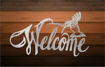 DXF CNC Plasma Laser Cut Ready Vector Hummingbird Welcome Digital CnC file