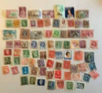 75 Asst  Commonwealth Stamps, Used, All different, George V/VI, Elizabeth ll.