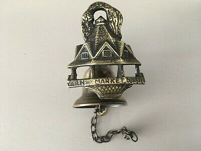 Antique Small Brass Wall Bell