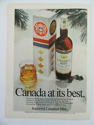 1973 Imported CANADIAN MIST Canadian Whisky Christmas On The Rocks Magazine Ad