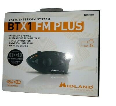 Midland Btx1 Fm Plus Doppio Interfono Bluetooth - Hi Fi Speaker Super - PROMO SP