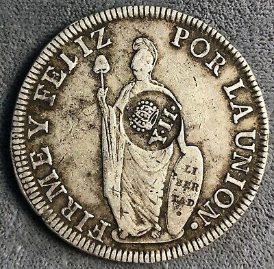 Philippines 8 Reales, 1833. KM# 138.2. Counterstamped.