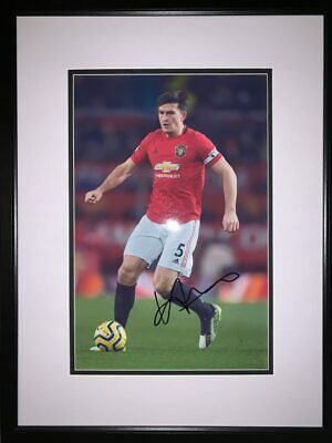 Signed Framed Harry Maguire Manchester United Autograph Photo England